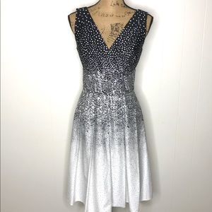 Kay Unger Size 6 Sleeveless Career Dress-Cotton
